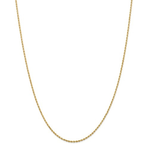 2mm Rope Chain   14K Yellow Gold   24 inch