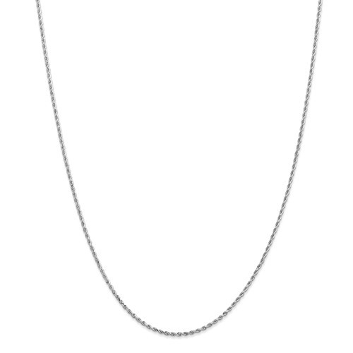 1.50mm Rope Chain | 14K White Gold | 22 inch