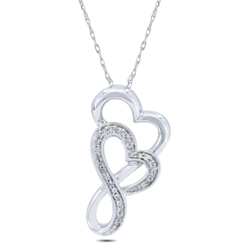 APH41W | Heart Pendant | Payroll Jewelry