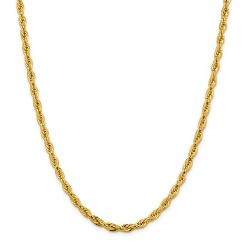 4.75mm Rope Chain   10K Yellow Gold   18 inch
