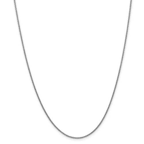 1.4mm Cable Chain | 14K White Gold | 22 Inch