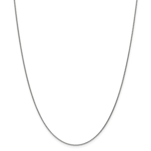 1mm Cable Chain   14K White Gold   18 Inch