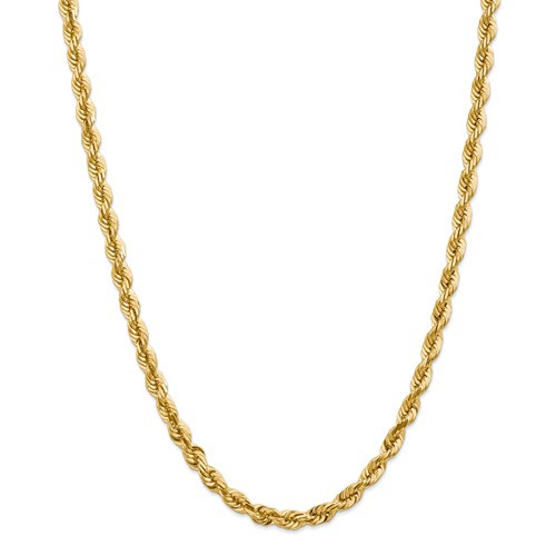 10BC170-22   Gold Rope Chain - 22 inch   Payroll Jewelry