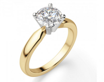 BR475Y | Yellow Gold Solitaire Engagement Ring | Payroll Jewelry