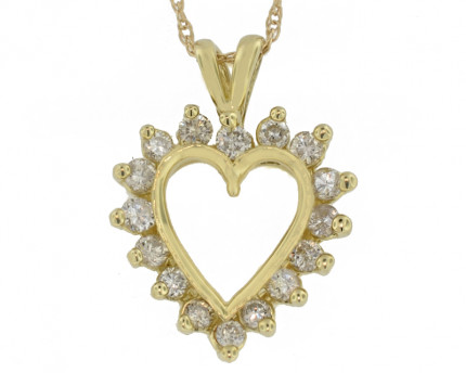 APH8045Y | Heart Pendant | Payroll Jewelry