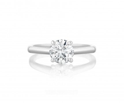 BR475W | Solitaire Engagement Ring | Payroll Jewelry