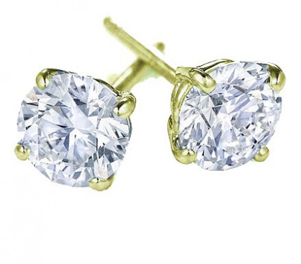 ER450Y | Yellow Gold Diamond Ear Studs | Payroll Jewelry