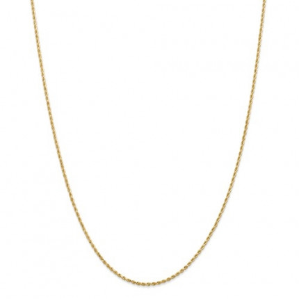2.25mm Rope Chain | 10K Yellow Gold | 22 Inch