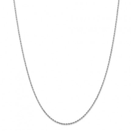 2mm Rope Chain | 14K White Gold | 18 inch