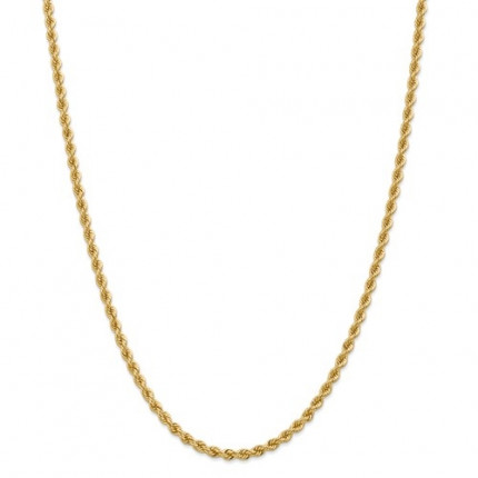 3.65mm Rope Chain | 14K Yellow Gold | 26 inch