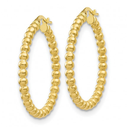 10LE456 | Gold Hoops | Payroll Jewelry