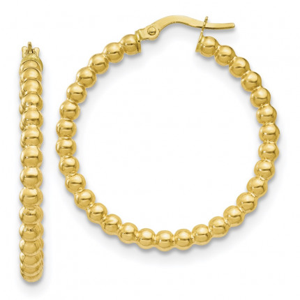 10LE456   Gold Hoops   Payroll Jewelry