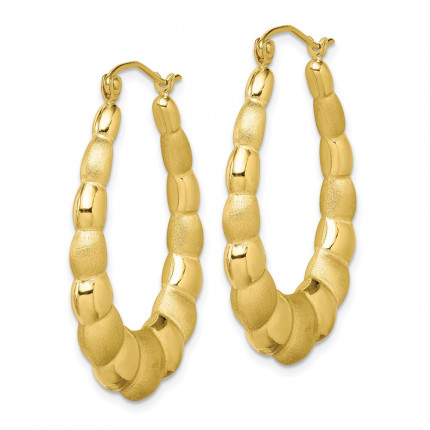 10ER156 | Gold Hoop Earrings | Payroll Jewelry