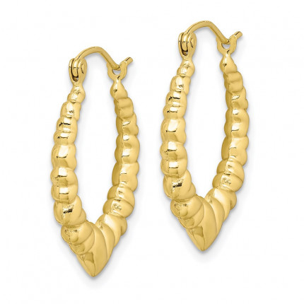 10S27 | Gold Hoop Earrings | Payroll Jewelry