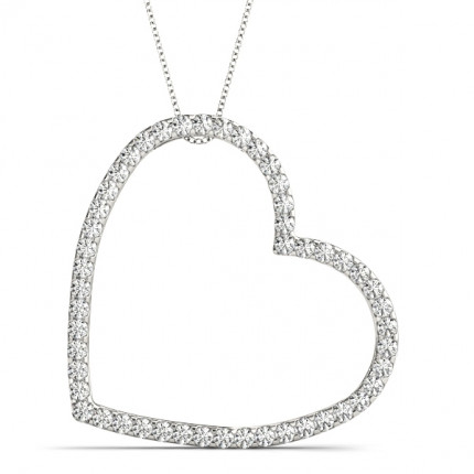 APH30770W | Heart Pendant | Payroll Jewelry
