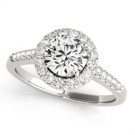 WS50345E | Halo Engagement Ring. | Payroll Jewelry