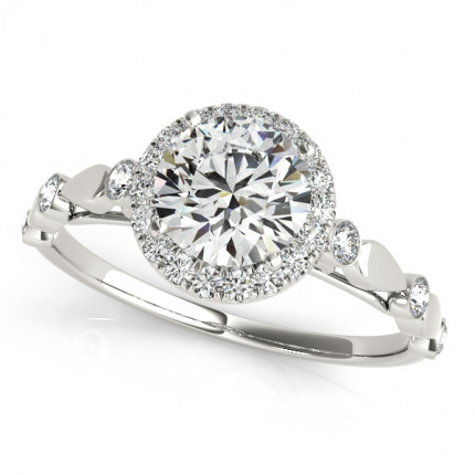 WS50567W | Halo Engagement Ring. | Payroll Jewelry