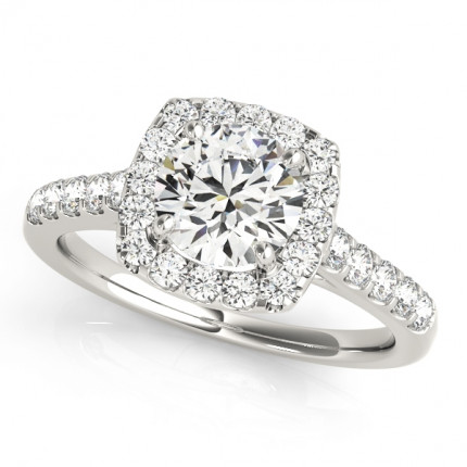 WS50576E | Halo Engagement Ring. | Payroll Jewelry