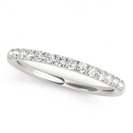 WB50576W | White Gold Band. | Payroll Jewelry