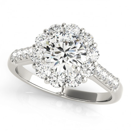 WS50584E | Halo Engagement Ring. | Payroll Jewelry