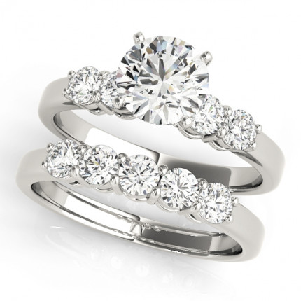 WS50633SET10 | Side Stone Wedding Set. | Payroll Jewelry