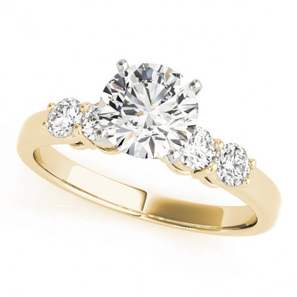 WS50633Y10 | Yellow Gold Side Stone Engagement Ring. | Payroll Jewelry