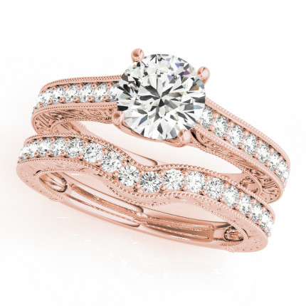 WS50648SET | Side Stone Halo Engagement Ring | Payroll Jewelry