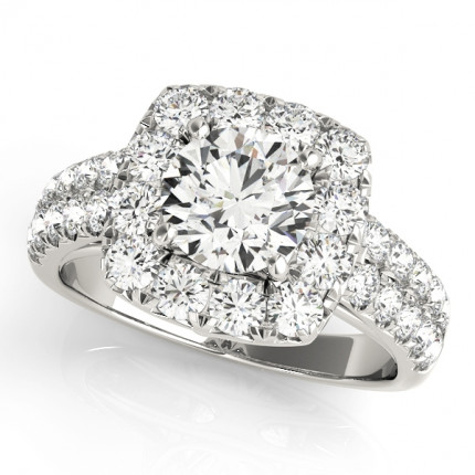 WS50657E | Halo Engagement Ring. | Payroll Jewelry