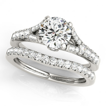 WS50668WSET | Side Stone Wedding Set. | Payroll Jewelry