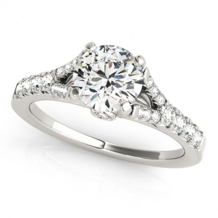 WS50668W-75 | Side Stone Engagement Ring. | Payroll Jewelry