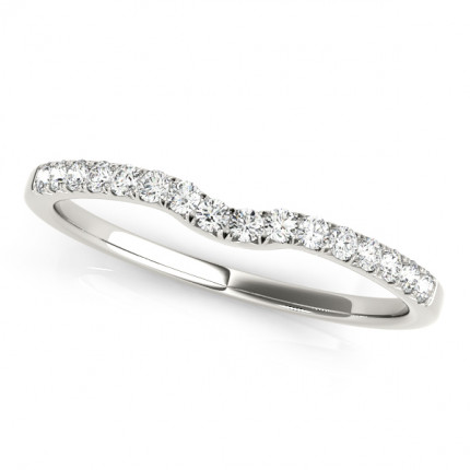 WB50804W | White Gold Band. | Payroll Jewelry