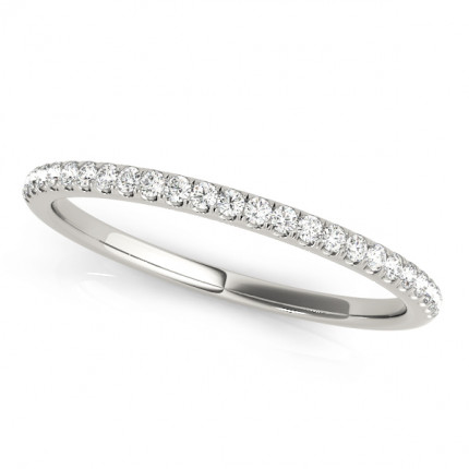 WB50893W | White Gold Band. | Payroll Jewelry