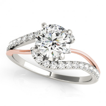 WS50895WS | Side Stone Engagement Ring. | Payroll Jewelry