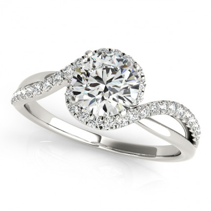 WS50922EW | Halo Engagement Ring. | Payroll Jewelry