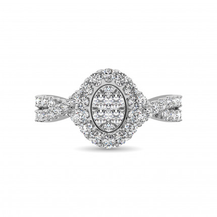 WLR61464W | Halo Rings | Payroll Jewelry