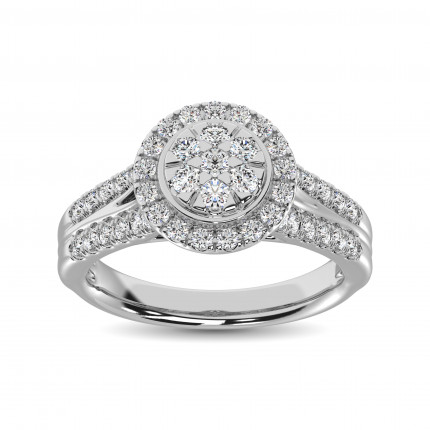 WLR61465W   Halo Rings   Payroll Jewelry
