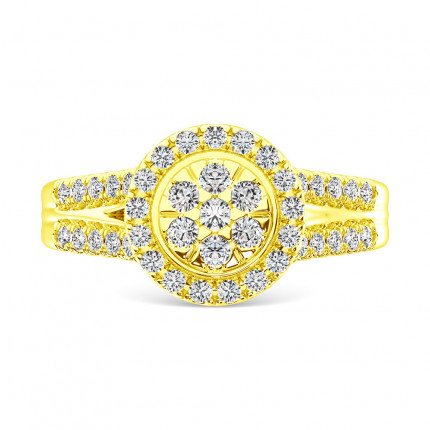 WLR61465Y | Halo Rings | Payroll Jewelry