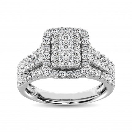 WSF61466W | Halo Rings | Payroll Jewelry