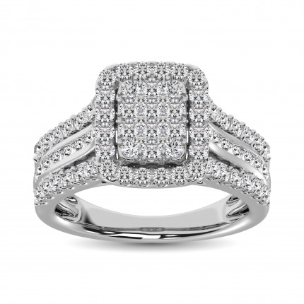 WSF61469W | Halo Rings | Payroll Jewelry