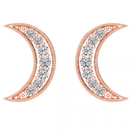 ER61922P | Crescent Moon Earrings | Payroll Jewelry