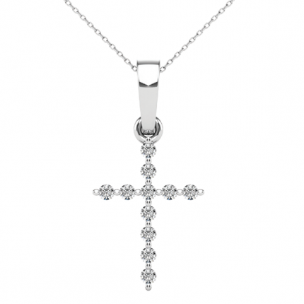 APC61961W | Diamond Cross Pendant | Payroll Jewelry