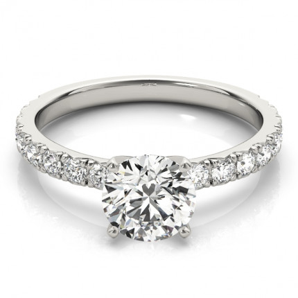 WS84842W-1/2 | Side Stone Engagement Ring. | Payroll Jewelry