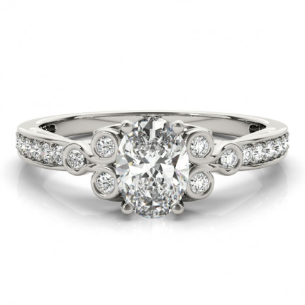 WS85069-1/2 | Side Stone Oval Engagement | Payroll Jewelry