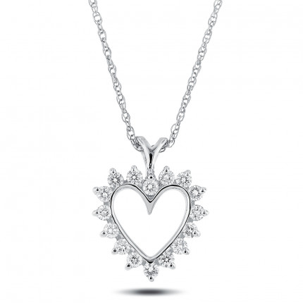 APH30379-1/2 | Heart Pendant. | Payroll Jewelry