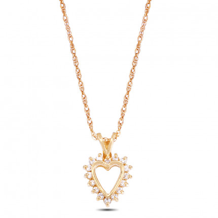 APH1692Y | Heart Pendant | Payroll Jewelry