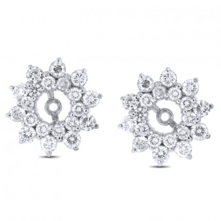 EJ40300W | White Gold Diamond Ear Studs | Payroll Jewelry
