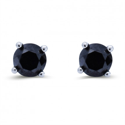 ER100BLK | Diamond Studs | Payroll Jewelry