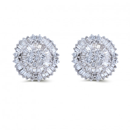 ER179729Y | Cluster Earrings | Payroll Jewelry