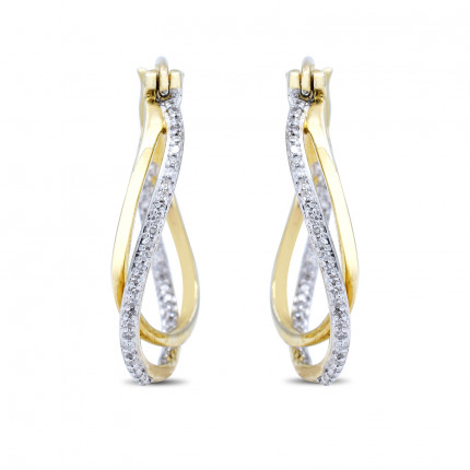 ER180583Y | Diamond Hoops | Payroll Jewelry