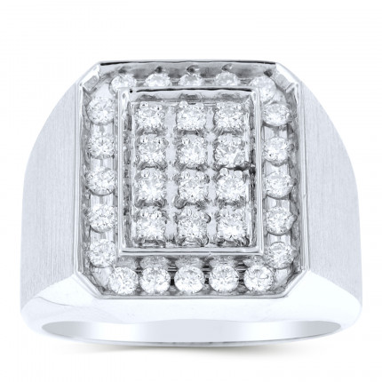 GR32647W | White Gold Mens Ring. | Payroll Jewelry